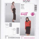 Burda Sewing Pattern 7023 Maternity Misses Size 6-22 Easy Knit Pull-on Straight Skirt Two Lengths