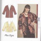 Kwik Sew Sewing Pattern 3585 Women's Plus Size 1X-4X (approx 22W-32W) Dolman Sleeve Jacket
