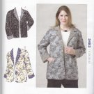 Kwik Sew Sewing Pattern 3483 Women's Plus Size 1X-4X (approx 22W-32W) Reversible Long Sleeve Jacket