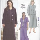 Kwik Sew Sewing Pattern 3276 Women's Plus Size 1X-4X (approx 22W-32W) Jacket Skirt Tank Top