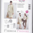Burda Sewing Pattern 7105 Maternity Misses Size 8-20 Straight Skirt Pants Long Sleeve Jacket