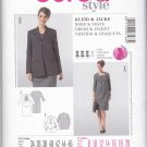 Burda Sewing Pattern 7163 Maternity Misses Size 8-20 Ruched Bodice Dress Lined Jacket