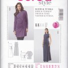 Burda Sewing Pattern 7164 Maternity Misses Size 12-24 Easy Ruched Evening Gown Dress Tunic Top