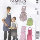 McCall's Sewing Pattern 5551 Adult Children's All Sizes Classic Aprons Full Half Butcher Cobbler