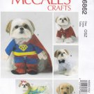 McCall's Sewing Pattern 6862 Crafts Dog Clothes Costumes Bow Tie Super Hero Santa Suit
