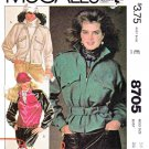 McCall's Sewing Pattern 8705 Misses Sizes 14 Brooke Shields Zipper Front Jacket