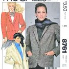 McCall's Sewing Pattern 8761 Misses Sizes 12 Button Front Long Sleeve Unlined Jacket