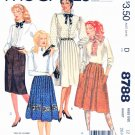 McCall's Sewing Pattern 8788 M8788 Misses Sizes 12 Classic Button Front Straight Pleated Skirts