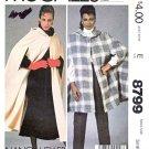 McCall's Sewing Pattern 8799 Misses Sizes Small 10-12 Unlined Hooded Cape Two Lengths