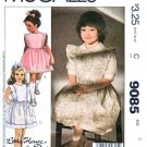 McCall's Sewing Pattern 9085 Girls Sizes 2 Easy Little House on the Prairie Dress Pinafore Sundress