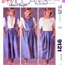McCall's Sewing Pattern 9121 Misses Sizes 12 Easy Gathered Skirt Suspenders Lined Bib