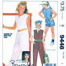McCall's Sewing Pattern 9448 Girls Sizes 8 Brooke Shield Romper Jumpsuit Learn to Sew for Fun