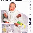 McCall's Sewing Pattern 9450 Baby Sizes NB-L Infant Jumpsuit Romper Sunsuit Knit T-Shirt