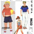McCall's Sewing Pattern 9633 Boys Sizes 7-10 Donmoor  Summer Knit Shorts Tops T-Shirts Pants