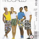 "McCall's Sewing Pattern 6104 8934 Misses Mens Large Hip Size 42-44"" Unisex Boxer Shorts"
