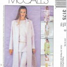 McCalls Sewing Pattern 3175 Misses Size 8-12 Wardrobe Unlined Coat Top Pants Skirt Belt