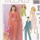 McCalls Sewing Pattern 3242 Misses Size 8-12 Wardrobe Shirt Midriff Top Pants