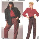 McCalls Sewing Pattern 3208 Misses Size 10 Liz Claiborn Unlined Jacket Shirt Pants