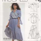 McCalls Sewing Pattern 3027 Misses Size 10 French Connection Full Gathered Skirt Shirts