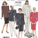 McCalls Sewing Pattern 2707 Misses Size 10 Fashion Basics Lined Jacket Pants Skirt Suit