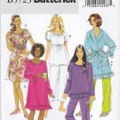 Butterick Sewing Pattern 5723 Misses Size 16-26 Easy Pajamas Pants Top Nightgown Robe Gown