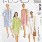 McCalls Sewing Pattern 2085 Misses Size 20-24 Sleeveless Sheath Dress Button Front Long Jacket