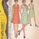 McCalls Sewing Pattern 3987 Women's Half Size 14 ½ Front Wrap Princess Seams Dress Sleeve Options