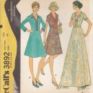 McCalls Sewing Pattern 3892 Women's Half Size 22 ½ Princess Seam Dress Length Sleeve Options