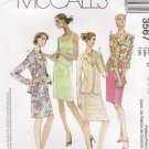 McCalls Sewing Pattern 3567 Misses Size 12-18 Lined Button Front Jacket Sleeveless Sheath Dress
