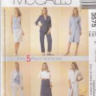 McCalls Sewing Pattern 3575 Misses Size 18-22 Easy Wardrobe Dress Shirt Top Pants Skirt