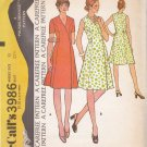 McCalls Sewing Pattern 3986 Misses Size 10 Front Wrap Princess Seams Dress Sleeve Options