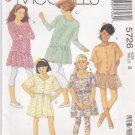 McCalls Sewing Pattern 5726 Girls' Size 10 Easy Dress Tunic Knit Leggings Sleeve Length Options