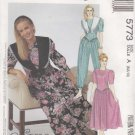 McCalls Sewing Pattern 5773 Misses Size 8-12 Jumpsuit Dress Detachable Collar Sleeve Options