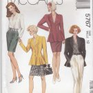 McCalls Sewing Pattern 5767 Misses Size 12 Wardrobe Peplum Jacket Skirt Pants Blouse
