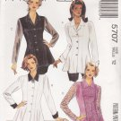 McCalls Sewing Pattern 5707 Misses Size 12 Button Front Long Sleeve Flared Blouse
