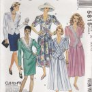 McCalls Sewing Pattern 5815 Misses Size 6-10 Two-Piece Dresses Top Skirts Split-Skirt Culottes