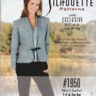 Silhouette Sewing Pattern 1950 Misses/Women's Size 1-4 & 5W-8W  Max's Jacket Long Sleeve Front Tie