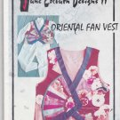 June Colburn Designs II Sewing Pattern Oriental Fan Vest Misses S - XL Patchwork