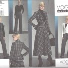 Vogue Sewing Pattern 1132 Misses Size 8-14 Easy Wardrobe Peplum Jacket Vest Flared Skirt Pants