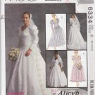 McCalls Sewing Pattern 6334 B6334 410 Misses Size 8-12 Alicyn Wedding Bridal Gown Dress Train