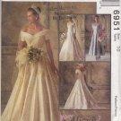 McCalls Sewing Pattern 6951 Misses Size 10 Alicyn Wedding Bridal Gown Dress Cut-on Train