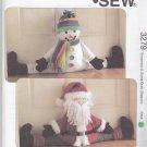 Kwik Sew Sewing Pattern 3279 Snowman Santa Claus Door Draft Stoppers