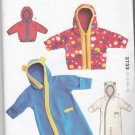 Kwik Sew Sewing Pattern 3733 Baby Infant Size 8-26# Baby Hooded Bunting Zipper Front Jacket