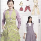 Kwik Sew Sewing Pattern 3686 Misses Sizes S-L Full Vintage Style Aprons Potholders