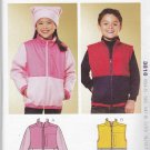 Kwik Sew Sewing Pattern 3816 Girls' Boys' Sizes 4-14 Knit Zipper Front Jacket Vest