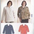 Kwik Sew Sewing Pattern 3821 Women's Plus Sizes 1X-4X Button Front Yoked Jacket Sleeve Options