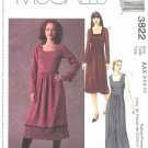 McCall's Sewing Pattern 3822 Misses Size 4-10 Long Short Gathered Skirt Dress Jumper