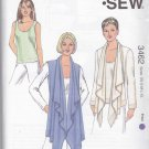 Kwik Sew Sewing Pattern 3462 Misses Sizes XS-XL (approx 6-22) Jacket Vest Sleeveless Top
