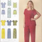 Simplicity Sewing Pattern 1446 Women's Plus Size 26W-32W Easy Pullover Tops Pants Shorts