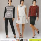 Simplicity Sewing Pattern 1255 Womens Plus Size 20W-28W Threads Wardrobe Knit Tops Skirts Pants